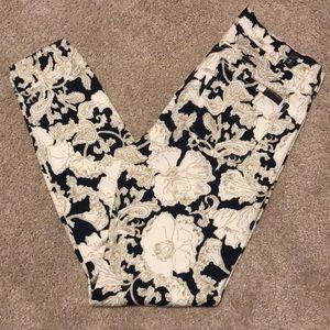 30%off bundles 7For All Mankind floral skinny jean